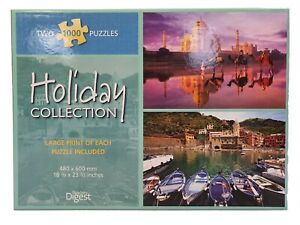 Readers Digest Puzzle Holiday Collection 2-In-1 1000 Piece Puzzles Taj Mahal