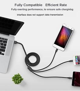 CAVO CAVETTO USB 3 IN 1 per Iphone TypeC Micro CARICA RAPIDA VELOCITA 2.8A