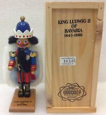 "Steinbach Mini Nutcracker KING LUDWIG II of BAVARIA ~ 5.25"" Tall w/ Wood Box"