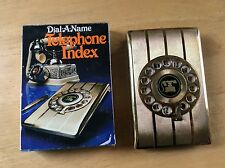 Vintage NOS NEW EAGLE DIAL A NAME TELEPHONE INDEX - 1982 Gold Tone PT7221 Nice
