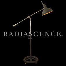 MEDICAL ARTICULATING NICKEL CHROME CAST IRON FLOOR LAMP INDUSTRIAL OPERAY 1920's