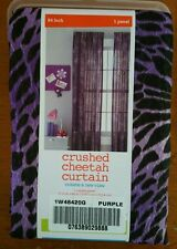 "Crushed Cheetah Purple Curtain Panel 51"" X 84""  1 panel"