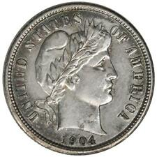 1904 Barber Dime Impaired Proof Low Mintage of 640 MM009