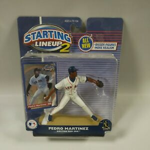 NEW 2001 Hasbro MLB Starting Lineup 2 Figure Pedro Martinez Boston Red Sox