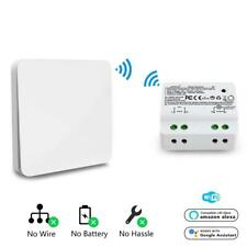 Wireless Remote Control Kinetic Self-powered No Battery Wall Light Smart Switch