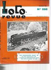 LOCOR REVUE N°292 PLAN : AUTORAIL X 2000 TYPE VH / 141.R AU 1/20 A VAPEUR