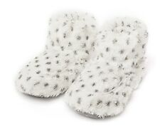 Reduced Intelex Cozy Boots Snowy Heatable Microwavable Furry Bed Warmer Slippers
