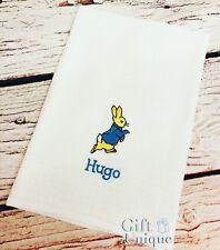PERSONALISED Peter Rabbit Baby Muslin Cloth Boy Girl Gift Any Name Keepsake New