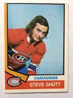 STEVE SHUTT *ROOKIE CARD* 1974-75 OPC #316 - Montreal Canadiens ~ *EX*