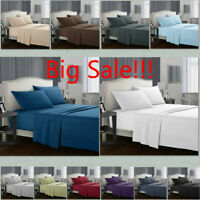 King Queen Size Deep Pocket Comfort 1800 Count 4 Piece Bed Sheet Set Big Sale