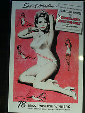 1950s BURLESQUE PIN-UP POSTER playboy Art Print VTG 50s Bettie Page Exploitation