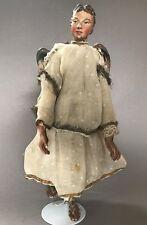 1v7: Barock geschnitzte Krippenfigur Engel 37cm AltbayernTirol Österreich?~1760