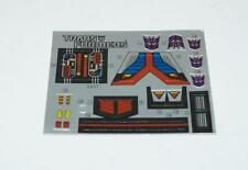 Astrotrain Decal Sticker Sheet G1 Transformers 1985 Vintage Hasbro