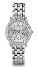 Avon Bling Pave Watch with Swarovski Crystals Silvertone $80 NIB