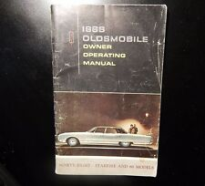 1966 Oldsmobile Owner Operating Manual Rr109Cxx