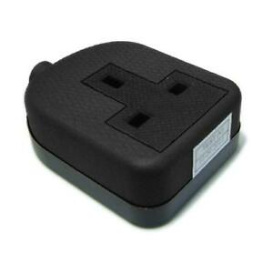 Power Connector UK Mains Rewireable Female Socket 13 amp Fused Black