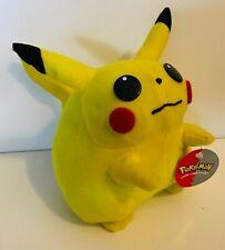 Nintendo 1999 Pokemon Stuffed Plush Pikachu with Tag Fat Pika Vintage 90s