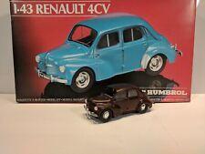 Heller Humbol 1/43 Renault 4CV Model Kit Built w/ Box #80174