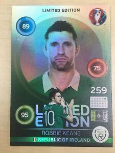 Panini Adrenalyn XL Euro 2016 Limited Edition Rare Robbie Keane Hero