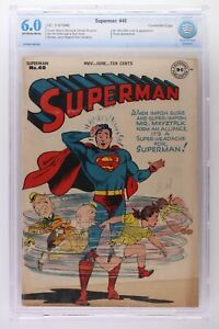 Superman #40 - DC 1946 CBCS 6.0 Mr. Mxyztplk cover and Appearance. Susie Appeara
