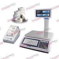 CAS S2000Jr Pole Scale, 30lb x 0.005lb, DLP-50 Printer, Label 12Rolls