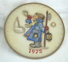 1972 Hummel 2nd Annual Plate Hand Painted W Germany Goebel In Great Shape! Shp