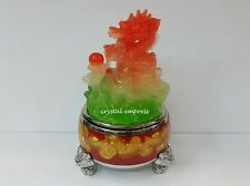 Feng Shui - 2017 Dragon Figurine (Faux Green and Red Jade)