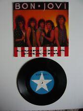 "Bon Jovi Livin' On A Prayer 7"" Vinyl Single UK Vertigo Paper Star Label A2/B2"