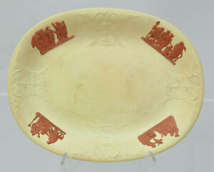 Antique Wedgwood Caneware and Rosso Antico Oval Under Tray 1815