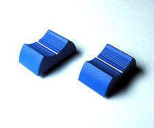 Slider Pot Boutons-Paire de bleu-avec Ligne Blanche-Linéaire Fader pot caps - 2 de