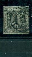 Baden, Wertziffer im Quadrat,  auf Germania Nr. 5 gestempelt