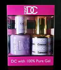 DND DC Soak Off Gel Polish Crocus Lavender 026 LED/UV 6oz 18ml Gel Duo Set NEW