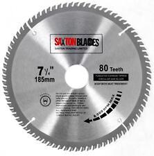 Saxton TCT Circular Saw Blade 185mm x 80T for Bosch Dewalt fits 190mm Saws
