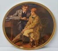 Confiding In The Den By Norman Rockwell 1983 Limited Edition Plate No.15329 NOS