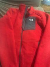 The North Face Boys Size XL 18/20 Denali Fleece Jacket Gray/Red Coat
