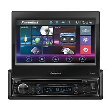 "Farenheit TI-895B 1 Din Flip Out Up DVD/CD/WMA Player 7"" Touchscreen Bluetooth"