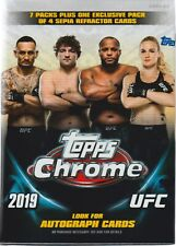 2019 Topps UFC CHROME MMA Trading Cards 7+1 Bonus Pack VALUE/BLASTER Box