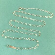 Tiffany & Co Sterling Silver Oval Link Chain Necklace 18""