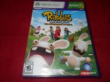 RABBIDS INVASION THE INTERACTIVE TV SHOW XBOX 360 KINECT FACTORY SEALED!!!