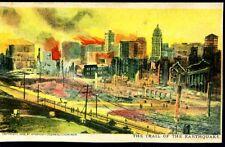 CALIFORNIA, SAN FRANCISCO, THE TRAIL OF THE EARTHQUAKE, C.1906, UDB,  (596