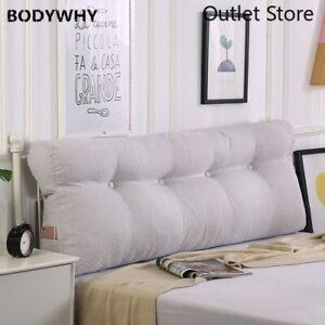 Headboard Pillow Wedge Cushion Back Lumbar Cushion Backrest Wedge Pillow for Bed