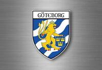 sticker adesivi adesivo stemma etichetta bandiera auto goteborg svezia
