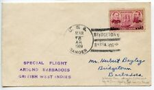 "Barbados 1939 Special 'Around Island' Flight pilot signed ""Johnson"" 6/ 28 (3246)"