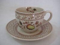 Vintage Johnson Bros Old Granite Fruit Cup And Saucer Set