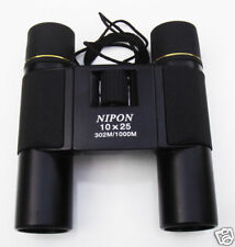 NIPON® 10x25 Compact Roof Prism Binoculars with Large Eyepiece. Brand new