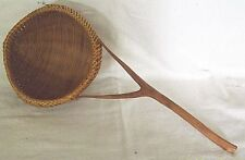 "BASKET LADLE HANDLE HAND M WEAVING BASKETRY HOME ART CRAFT 12 5/8"" FreeSh #4"
