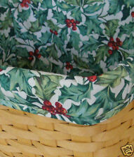 NEW Longaberger 2001 Card Keeper Basket Ivy Green Solid Liner #2144186