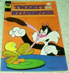 Tweety and Sylvester 52, FN+ (6.5) 1975, 50% off Guide!