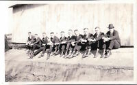 VINTAGE YOUNG MEN TERRIER ? DOG VERNACULAR PHOTOGRAPHY ARTISTIC LINE EARLY PHOTO