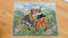 Vintage From the Looms of MOHAWK nursery rhyme Small Area Rug Jack & Jill (AHB